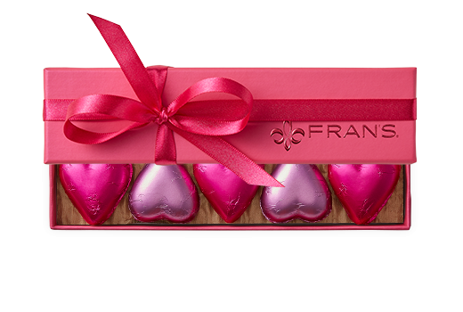 10pc-solid-foiled-hearts-pink-fuchsia-FY20