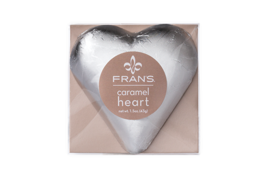 Dark Caramel Heart - Silver, Bagged --- Base