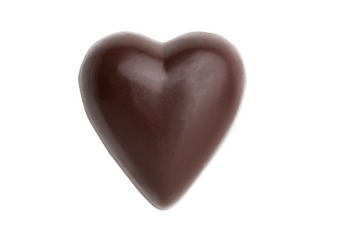 Solid Chocolate Heart - Dark, Bare --- Base