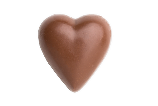 Solid Chocolate Heart - Milk, Bare --- Base